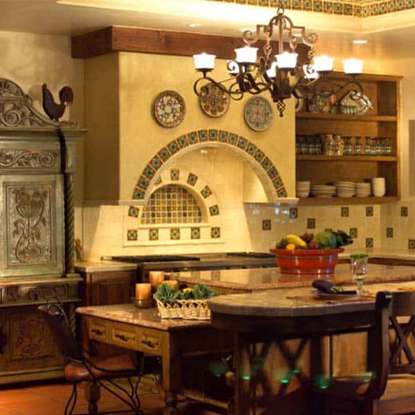 Cocinas iluminadas con lamparas de techo rusticas for Lamparas cocinas rusticas