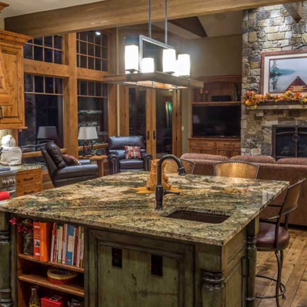 Cocinas iluminadas con lamparas de techo rusticas - Iluminacion para cocina comedor ...
